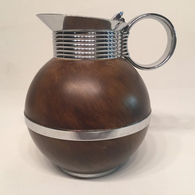 Manning Bowman Thermal Metal & Wood Pitcher - Image 5 of 6