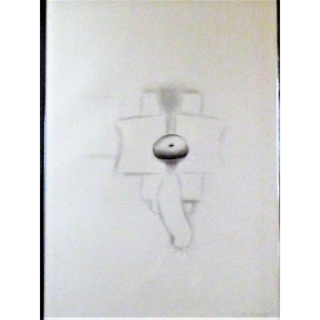 1970s Modern Abstract Cuban Graphite / Paper Art by Agustin Fernandez For Sale - Image 4 of 12