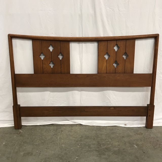 Mid-Century Clover Carved Headboard - Image 9 of 9