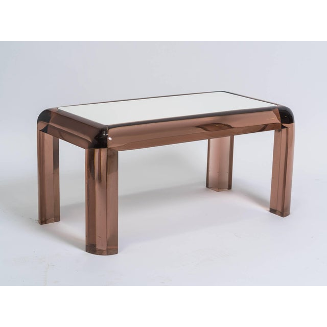 1970s Chunky Lucite Side or Cocktail Table For Sale - Image 5 of 8