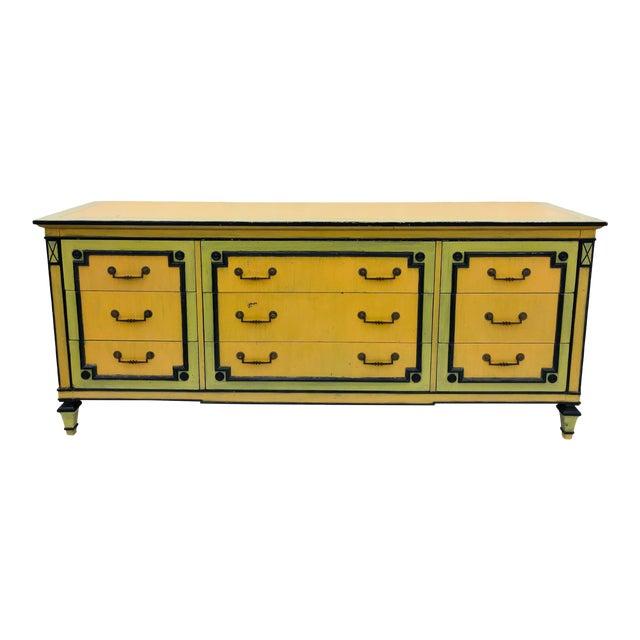 Vintage Painted Credenza Dresser For Sale