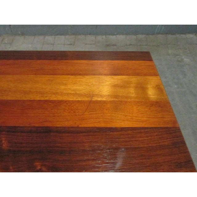 Directional Milo Baughman Dining Table for Directional With Two Extension Leaves For Sale - Image 4 of 5