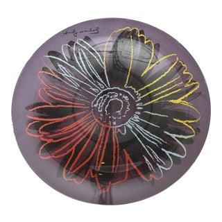 Rosenthal Glass Flower Plate / Serving Platte Designed After Andy Warhol For Sale
