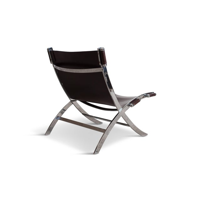Mid-Century Modern Lounge Chair by Paul Tuttle in Chrome and Leather For Sale - Image 3 of 6