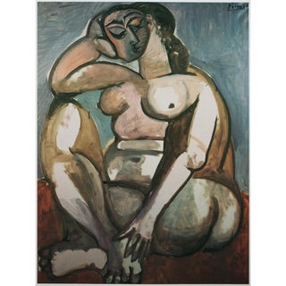 1985 Pablo Picasso, Squatting Nude Parisian Photogravure For Sale