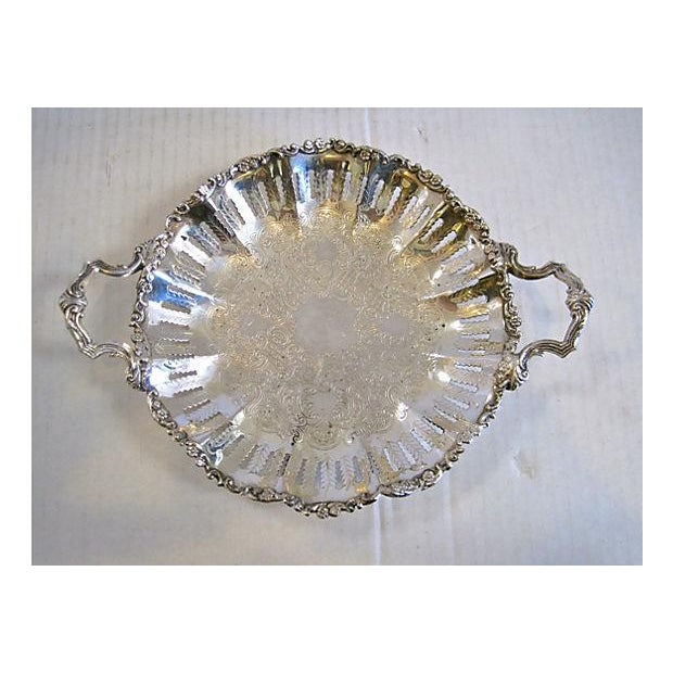 English Silver Handled Pierced Dish - Image 3 of 6