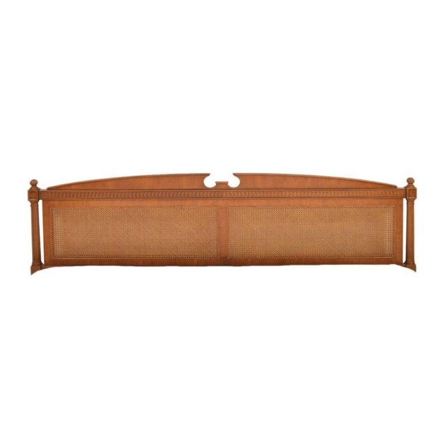 Caning 1970s Federal Style Henredon King Size Headboard For Sale - Image 7 of 12