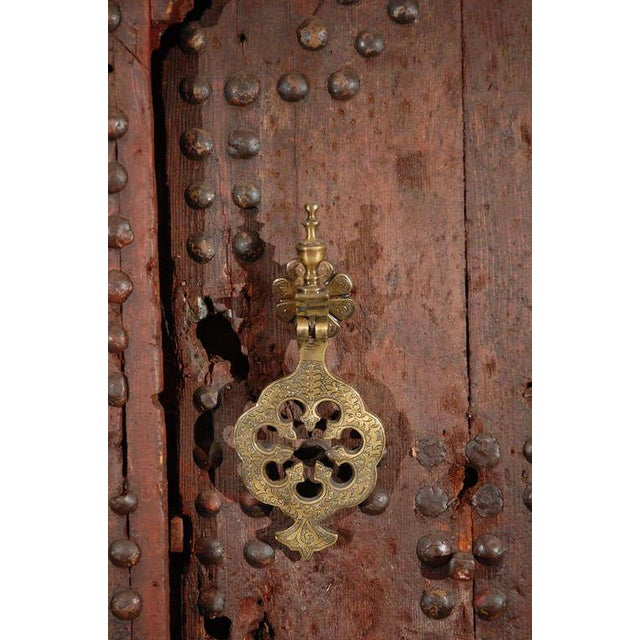 Islamic Moroccan Ryad Studded Moorish Antique Door For Sale - Image 3 of 8
