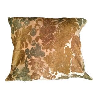 Lyon XVIII Silk Velvet Pillow Cover For Sale