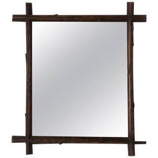 19th Century French Black Forest Mirror For Sale