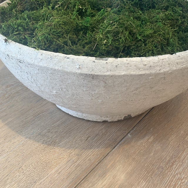 1930s Vintage Concrete Bowl For Sale - Image 5 of 13