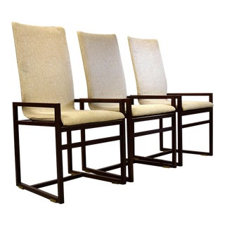 6 Saporiti 1980's Walnut Dining Chairs For Sale