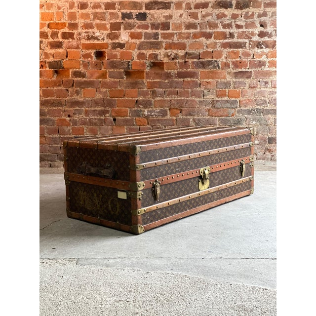 Louis Vuitton Steamer Trunk Wardrobe Trunk Chest France, circa 1920 For Sale - Image 11 of 13