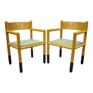 Vintage Sunar Hauserman Vignelli Acorn Mid Century Modern Arm Chairs - a Pair For Sale