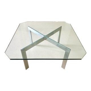 Mid Century Barcelona Style Coffee Table For Sale