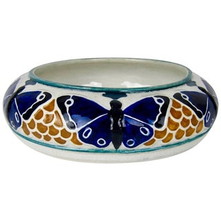 Alf Wallander for Rörstrand of Sweden Art Nouveau Butterfly Bowl For Sale