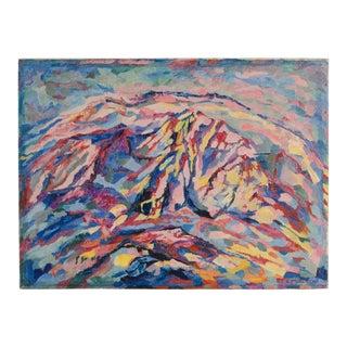 "Mid 20th Century ""Kalkberg"" Abstract Oil Painting by Elisabeth Merlicek For Sale"