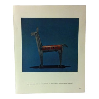 """Circa 1960 """"Inca Silver Llama With Gold Appique"""" Mounted Treasures of Ancient America Print For Sale"""