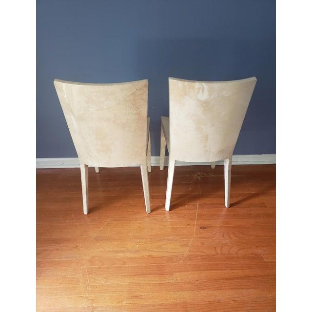 Karl Springer 1980s Vintage Karl Springer Jmf Chairs- A Pair For Sale - Image 4 of 13