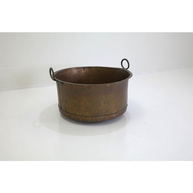 Danish Large Antique Copper Pot From 1960 - Image 2 of 7