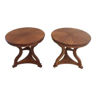 Vintage Ethan Allen Maple Side Tables - a Pair For Sale
