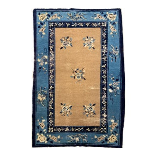 1910s Antique Peking Chinese Rug- 4′ × 6′1″ For Sale