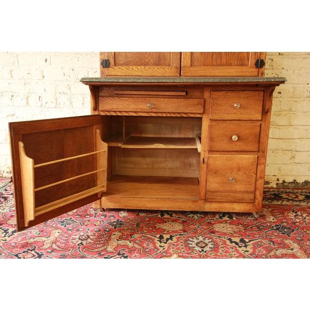Antique Oak Hoosier Cabinet - Image 8 of 11