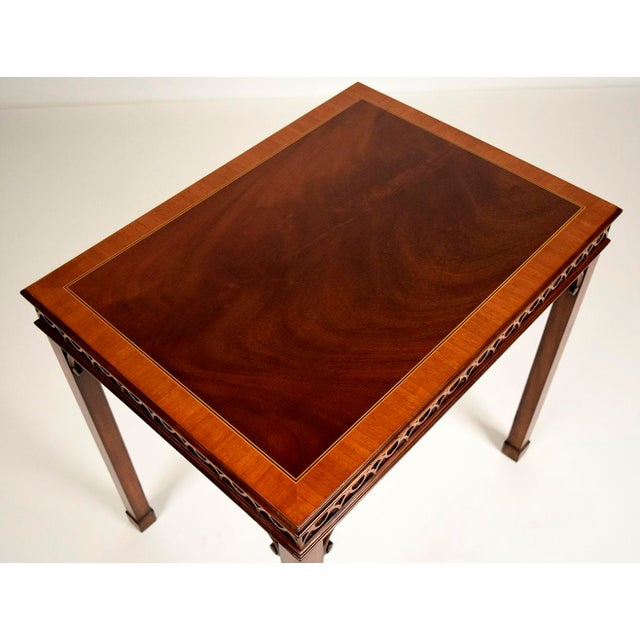 Hollywood Regency Traditional Mahogany Sheraton Style Side Table For Sale - Image 3 of 5