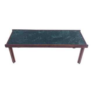 Mid-Century Coffee Table With Marble Top For Sale
