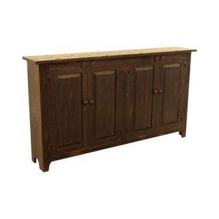 Country Style Custom Quality Black 4 Door Cabinet Console For Sale