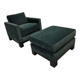 Richter Furniture Custom Chair + Ottoman For Sale