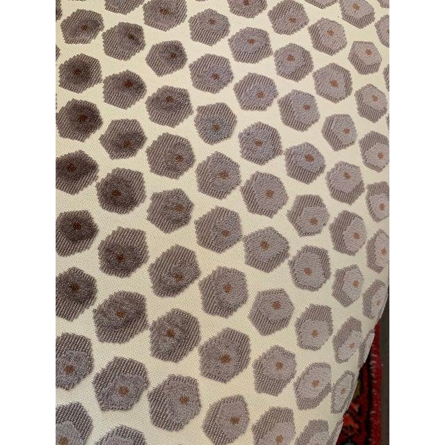 2010s Kravet Tarragona Cut Velvet Swivel Chair For Sale - Image 5 of 8