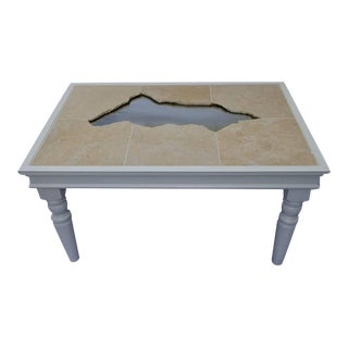 Cracked Marble Tile Coffee Table