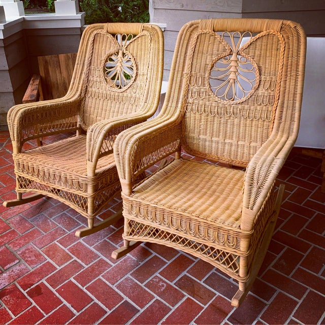 Hard to find, large, vintage, Ralph Lauren rocking chairs. They sat in front of huge windows in a grand Del Mar, CA estate...