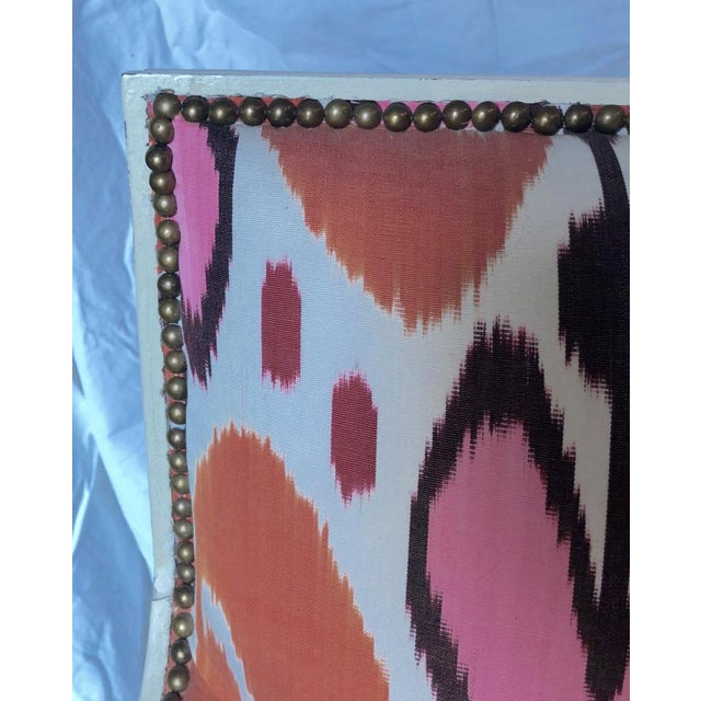 Pink Ikat Upholstered Oly Studio Tobias Chair Set For Sale - Image 8 of 9
