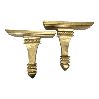Oversized Giltwood Brackets - a Pair