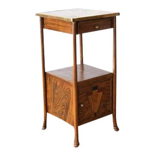 Early 20th Century French Marble and Tin Wash Stand For Sale