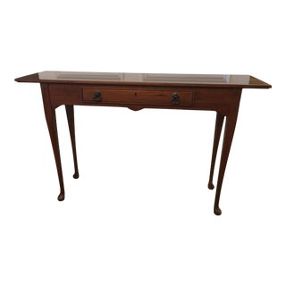 1980s Queen Anne Style Sofa Table For Sale