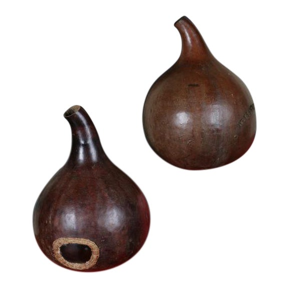 A Pair of African Gourds For Sale