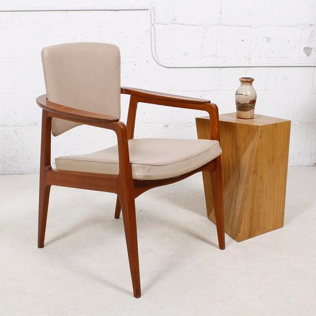 John Stuart Pivot-Back Danish Teak Accent Chair For Sale - Image 7 of 7