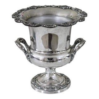 Vintage Silverplate Epca Poole Silver Co Champagne Cooler / Champagne Bucket For Sale