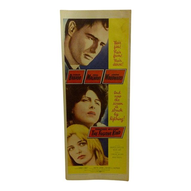 """Vintage """"The Fugitive Kind"""" 1960 Movie Poster For Sale"""