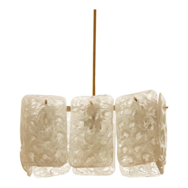 Austrian ice glass chandelier by JT Kalmar For Sale