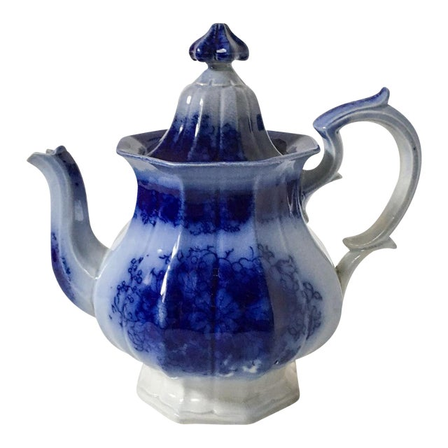 Child's Petite English Flow Blue Teapot with Lid - Image 1 of 7