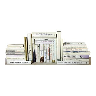 The White Contemporary Glossy Publishers' Wrap, Oversized & Trade Size, Book Wall For Sale