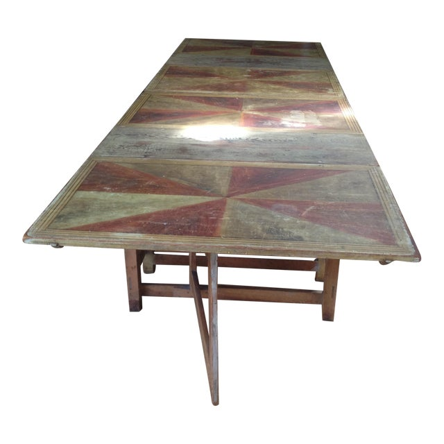Gold & Amber Gustavian Dining Table - Image 1 of 9