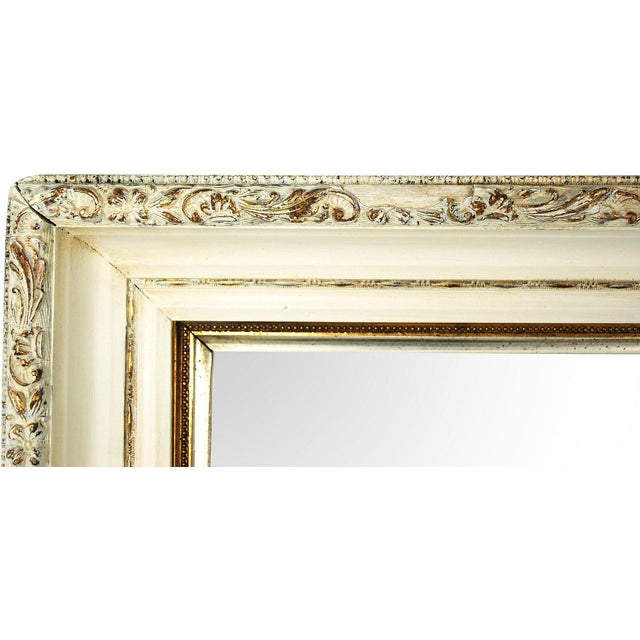 Large Antique Cream and Gold Mirror - Image 6 of 6