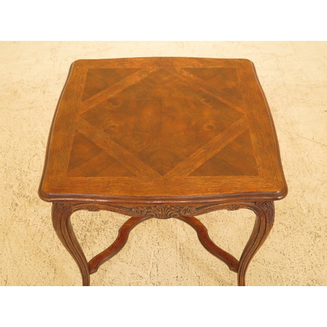 DREXEL - HERITAGE French Style Walnut Occasional Table Age: Approx: 25 Years Old Details: Nice Carved Details High Quality...