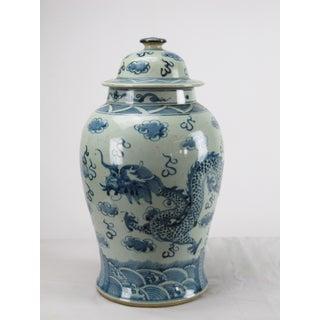 Blue & White Dragon Porcelain Jar Preview