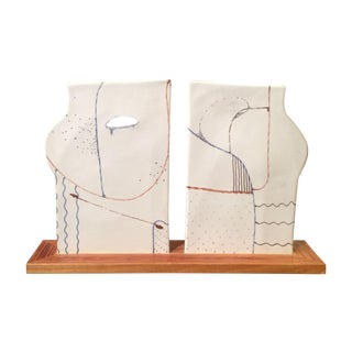"1979 Ceramic Sculpture ""Two Together"" For Sale"